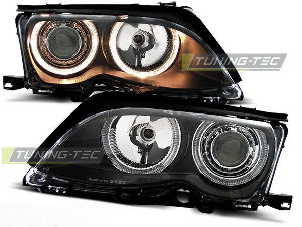 Фары передние H7 BMW E46 (01-05) S/T ANGEL EYES BLACK