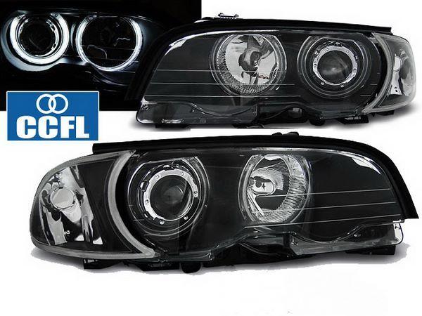 Фары передние BMW E46 (99-01) C/C ANGEL EYES CCFL BLACK