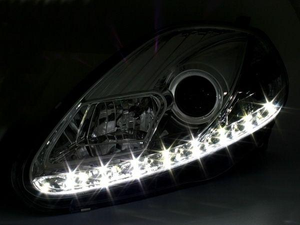 Фары DAYLIGHT CHROME FIAT Grande Punto (05-09)