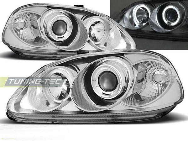 Фары HONDA Civic VI (99-01) ANGEL EYES CHROME