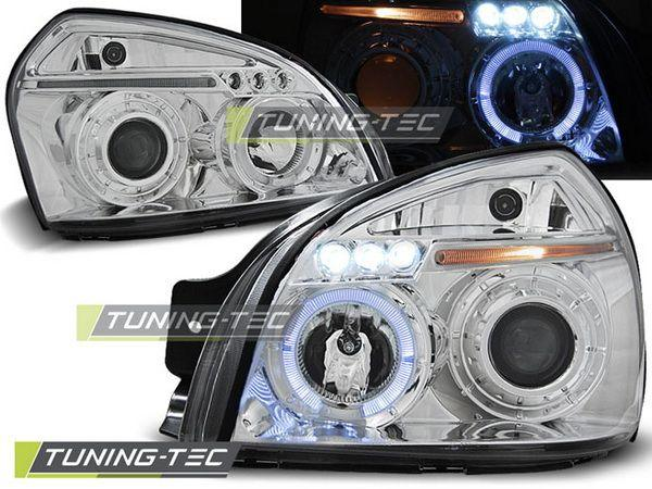 Фары HYUNDAI Tucson (04-10) ANGEL EYES CHROME