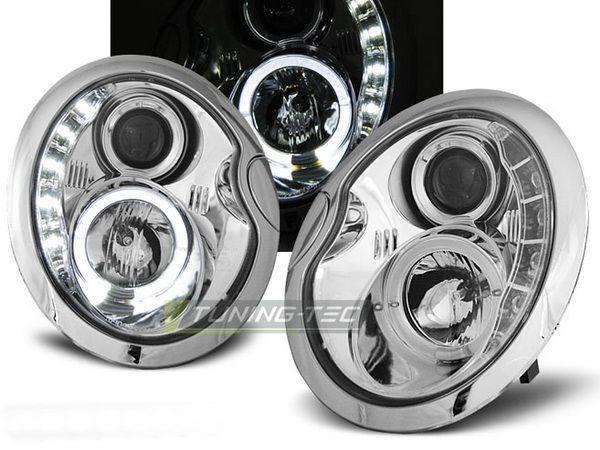 Фары передние MINI Cooper R50, R52, R53 DAYLIGHT CHROME
