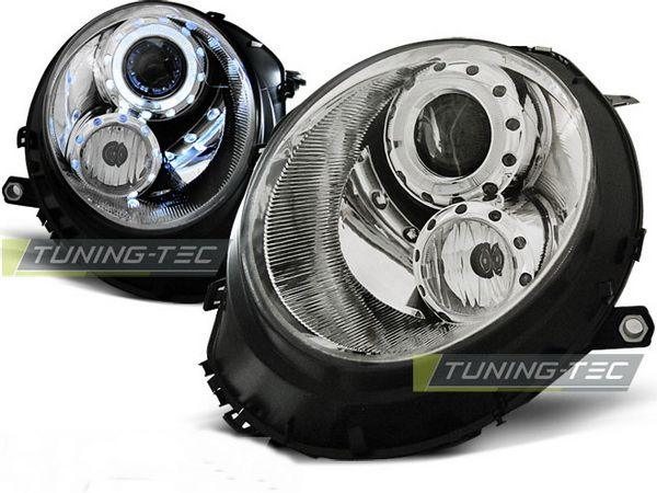 Фары передние MINI Cooper R55, R56, R57 ANGEL EYES CHROME