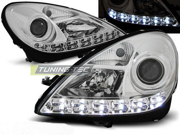 Фары MERCEDES SLK R171 (04-10) DAYLIGHT CHROME