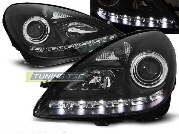 Фары MERCEDES SLK R171 (04-10) DAYLIGHT BLACK