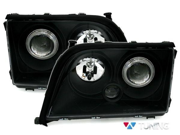Фары передние чёрные MERCEDES S W140