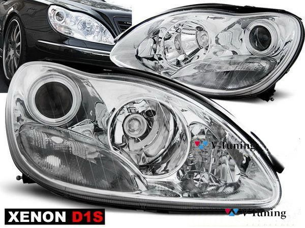 Фары передние MERCEDES S W220 (98-02) CHROME XENON
