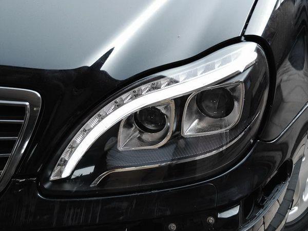 Фары передние MERCEDES S W220 - линзовые (Hi-Low) чёрные 2