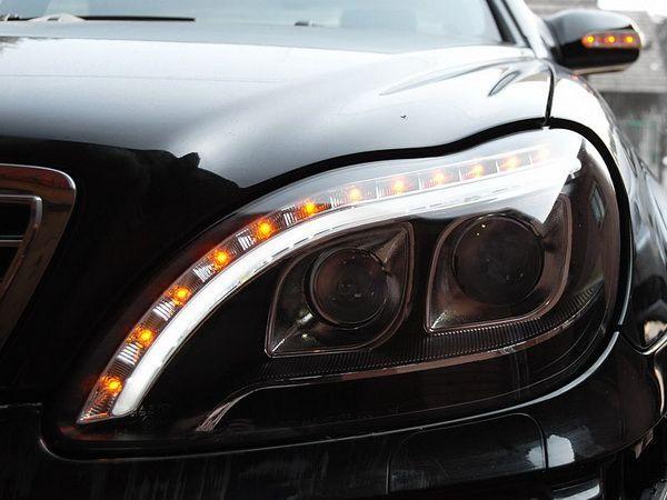 Фары передние MERCEDES S W220 - линзовые (Hi-Low) чёрные 3