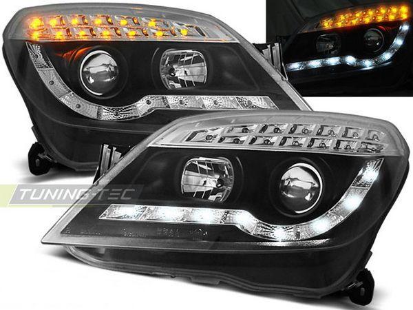 Фары передние OPEL Astra H (2004-) DAYLIGHT BLACK