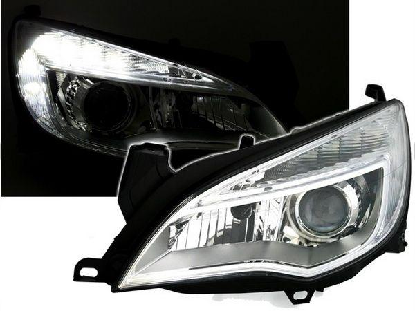 Фары передние OPEL Astra J (2009-) CHROME LED RL