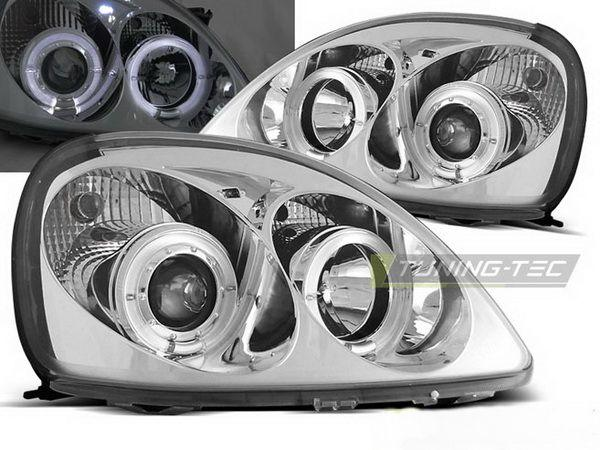 Фары передние TOYOTA Yaris I (99-03) ANGEL EYES CHROME