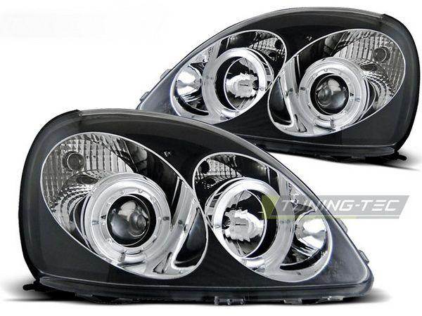 Фары передние TOYOTA Yaris I (99-03) ANGEL EYES BLACK