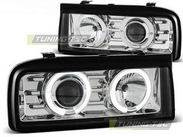 Фары передние VW Corrado ANGEL EYES CHROME