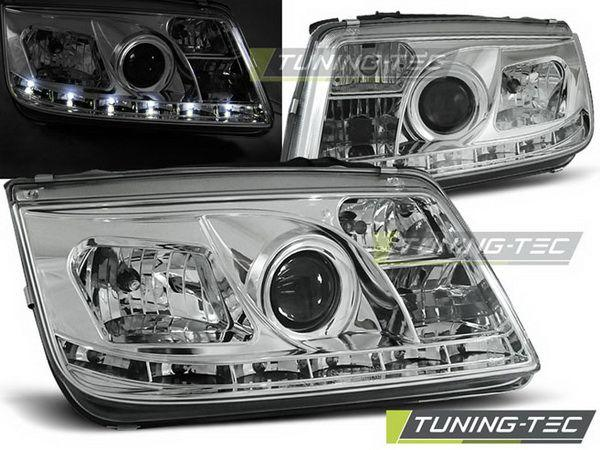 Оптика передняя VW Bora A4 DAYLIGHT CHROME