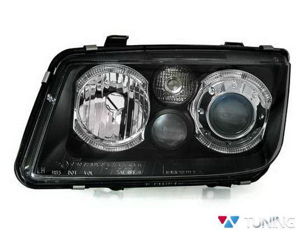 Фары передние VW Bora A4 ANGEL EYES BLACK
