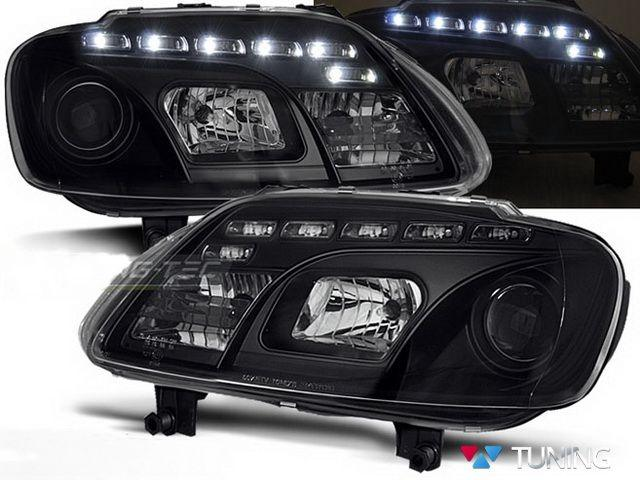 Фары VW Touran I (2003-2006) DAYLIGHT BLACK
