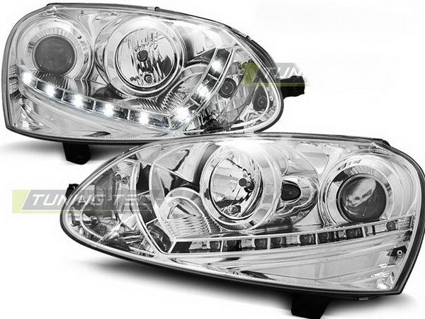 Фары VW Golf V (03-08) H7 DAYLIGHT CHROME