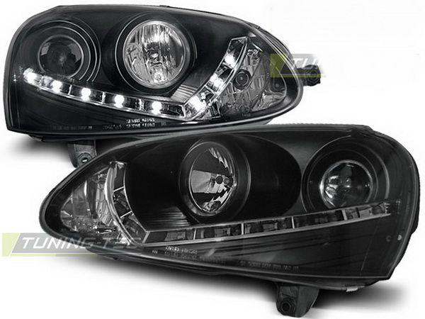 Фары VW Golf V (03-08) H7 DAYLIGHT BLACK