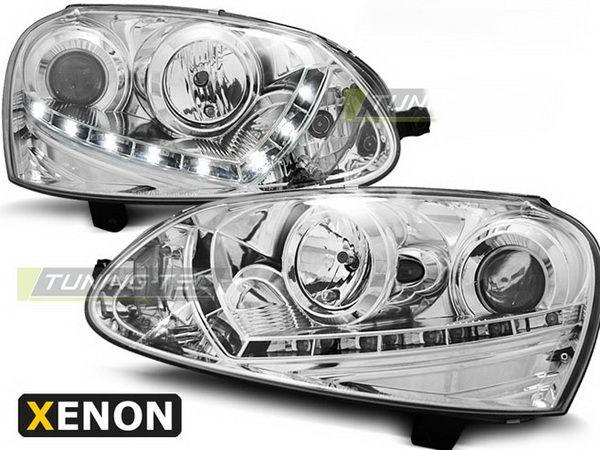 Фары VW Golf V (03-08) D2S DAYLIGHT CHROME