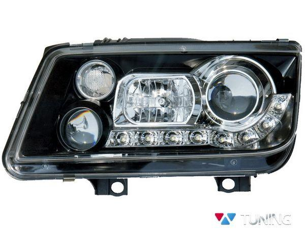 Фары передние VW Bora A4 DAYLIGHT BLACK