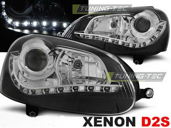 Фары VW Golf V DAYLIGHT BLACK BI-XENON