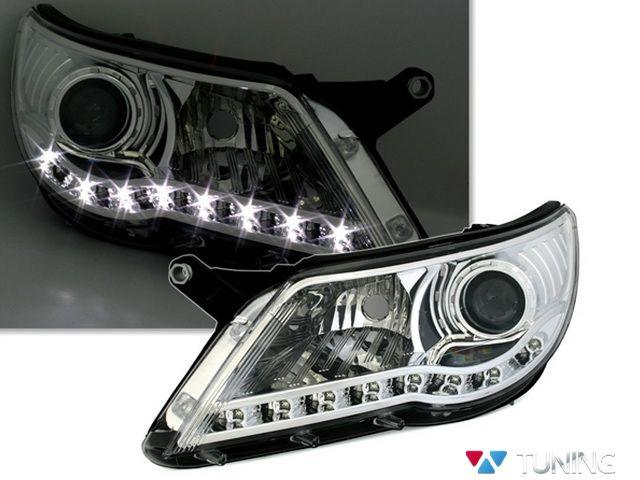 Фары VW Tiguan I (07-11) DAYLIGHT CHROME DEPO