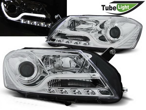 Фары VW Passat B7 (2011-2015) CHROME TUBE LIGHT