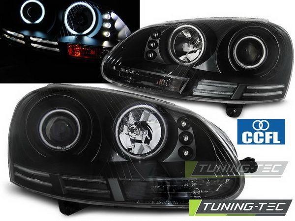 Фары VW Golf V/5 ANGEL EYES CCFL BLACK