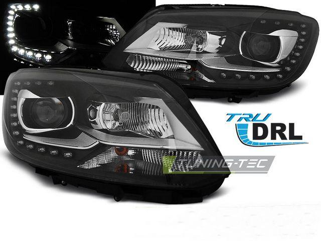 Фары передние VW Touran GP2 (10-15) BLACK TRU DRL