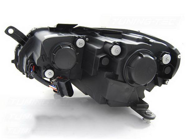 Фары чёрные VW Passat B7 DAYLIGHT BLACK EAGLE EYES - вид сзади