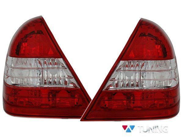 Фонари задние MERCEDES W202 Sedan - красно-белые 1