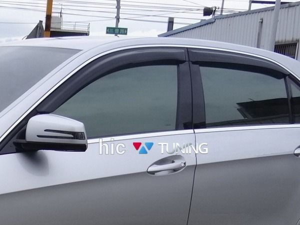 Дефлекторы окон MERCEDES W212 Sedan - HIC накладные 1