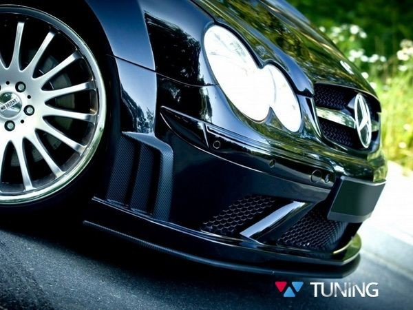 Сплиттер бампера SL BLACK MERCEDES CLK W209 (2002-2009) 1