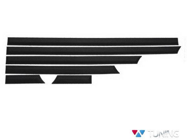 Молдинги дверные VW T5/T5+ (2003-2015) чёрные