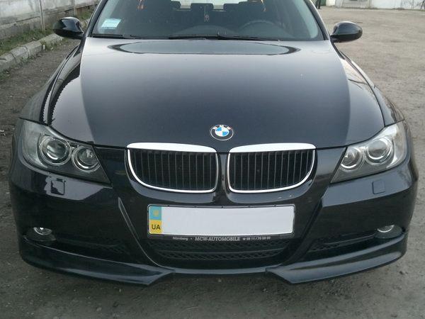 Накладка переднего бампера (углы) BMW E90 / E91 (05-08)