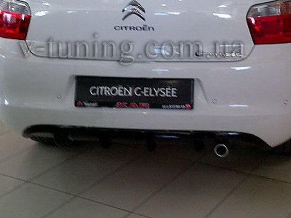 Накладка задняя (диффузор) CITROEN C-Elysse (2012-) Sedan