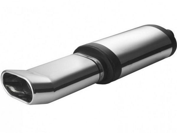 Глушитель универсальный алюминий NM-142-21 овальная насадка