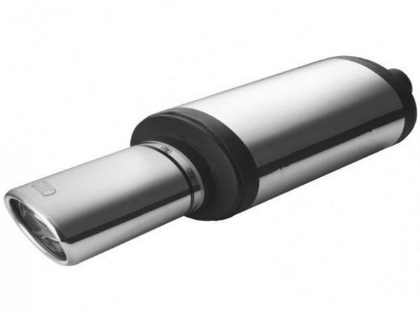 Глушитель универсальный скосом левый NM-142-27L левая