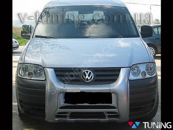Накладка на передний бампер VW Caddy III (04-10) центральная