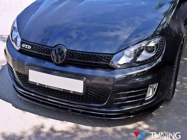 Сплиттер передний VW Golf VI GTI версия 2 - накладка под бампер 4