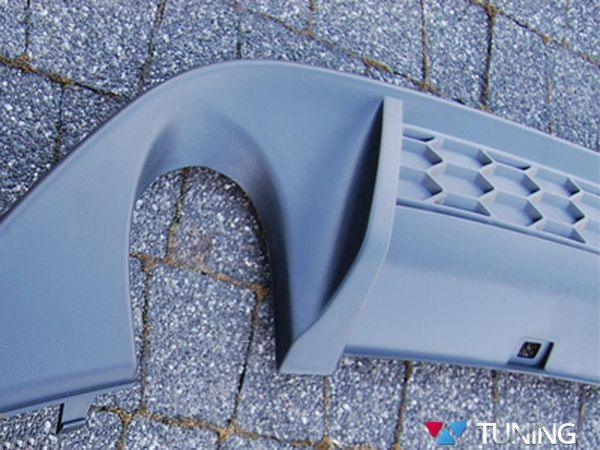 Диффузор заднего бампера VW Golf 7 GTI два выхлопа