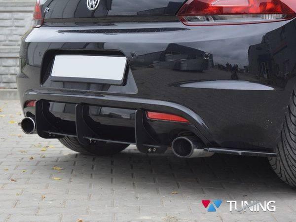 Диффузор задний + сплиттера VW Scirocco R (08-14) - фото #4