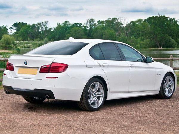 """Накладки на пороги BMW F10 (2010-) """"М-стиль"""""""