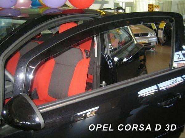 Ветровики OPEL Corsa E (2014+) 3D - Heko (вставные) 1