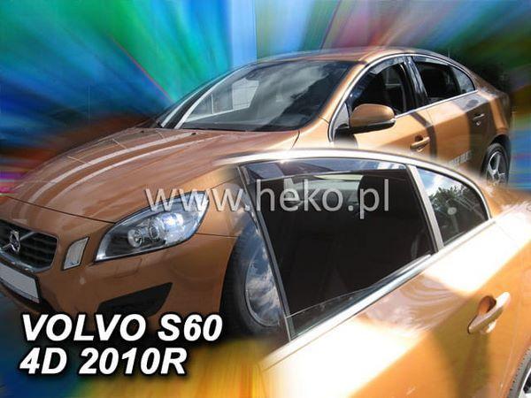 Дефлекторы окон Volvo S60 II (2010-2018) - Heko 3