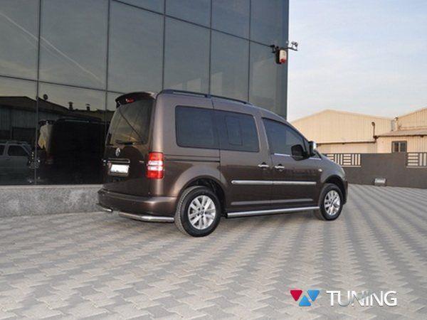 Трубы боковые чистые VW Caddy III (2004-2014)