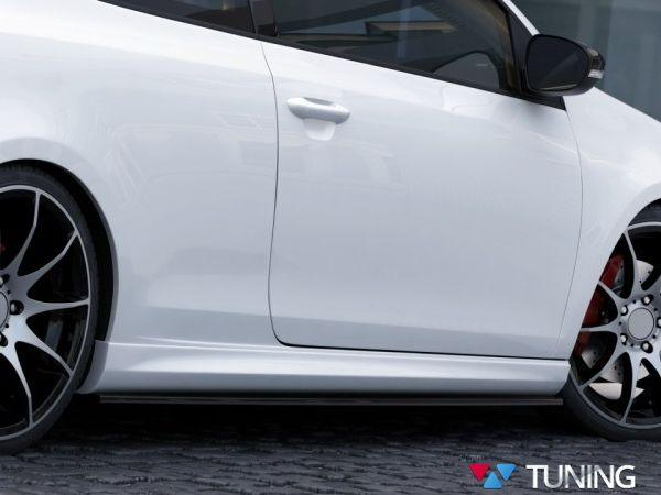 """Накладки на пороги VW Golf VI (08-12) """"R20"""""""