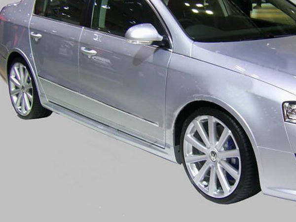"""Накладки на пороги VW Passat B6 (05-10) """"R36"""""""
