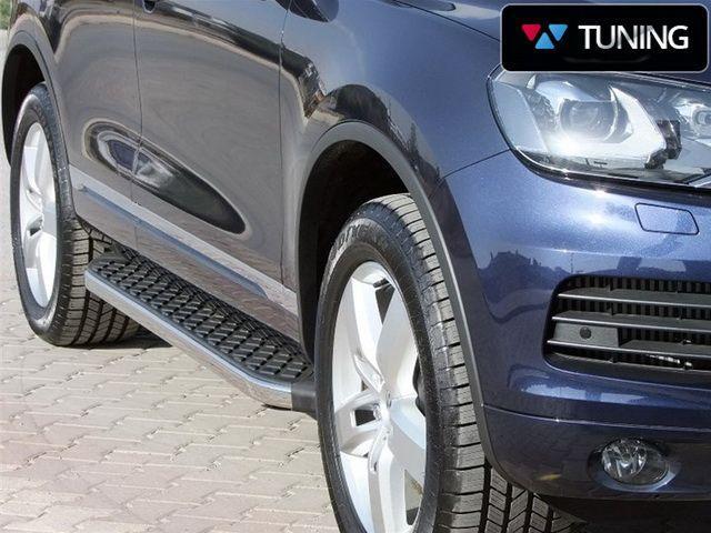 Пороги боковые VW Touareg II (2011-) BlackLine